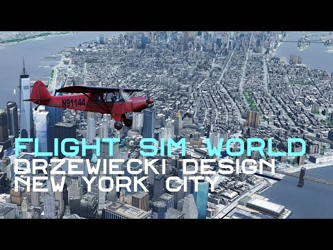 Flight Sim World: Drzewiecki Design New York Manhattan Tour with TrueSKY in 4K