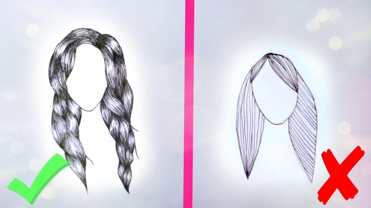 Как рисовать волосы в мультике