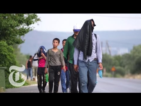 Migrants Flood Greek Island of Lesbos | The New York Times