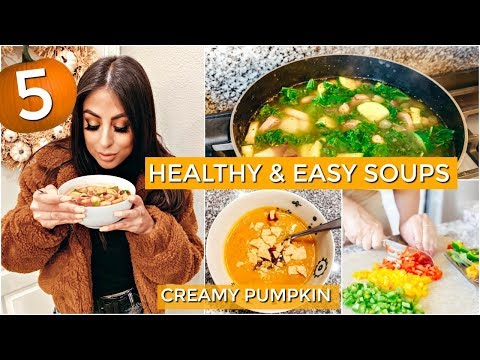 5 HEALTHY & EASY SOUP RECIPE IDEAS FOR FALL 2019