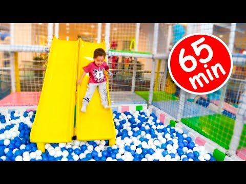 CRIANÇAS BRINCANDO no PARQUINHO e PRACINHA 2 com Paulinho e Toquinho - 65 MIN DE VÍDEO para Crianças