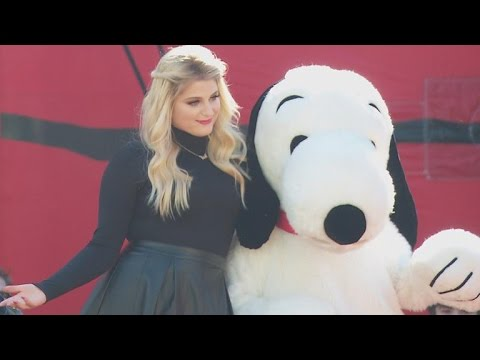 Meghan Trainor and Josh Gad Hit the Carpet at the Star-Studded 'Peanuts' Premiere