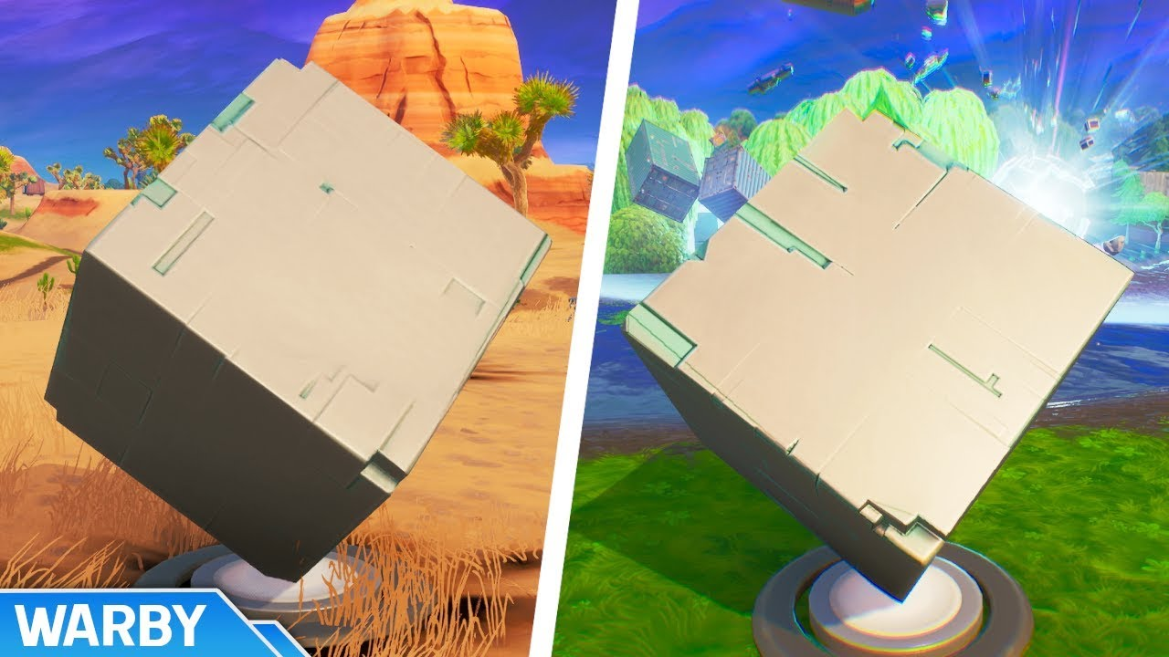 All Cube Memorial Locations Worlds Collide Challenge Fortnite
