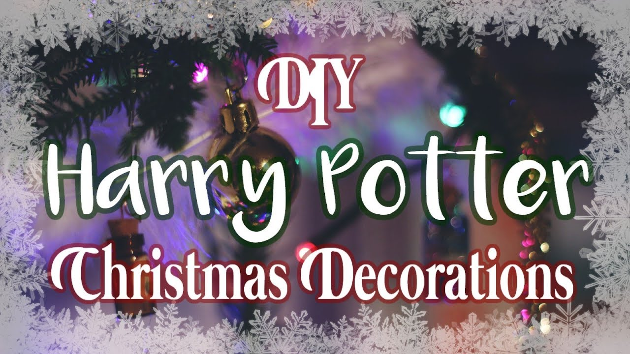 Diy Harry Potter Christmas Decorations Out Of The Door Youtube