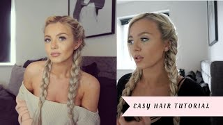 QUICK & EASY HAIR PLAIT TUTORIAL! 💁