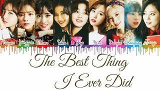Twice (트와이스) - '올해 제일 잘한 일 (the best thing i ever did)' lyrics [color coded han rom eng]   cykpop