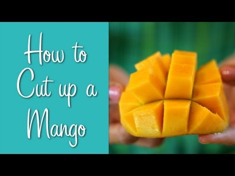 How To Cut Up a Mango  Hilah Cooking  Learn To Cook Series