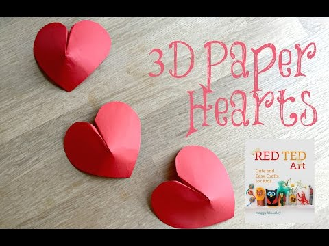 Paper Crafts DIY - 3D Paper Hearts How To