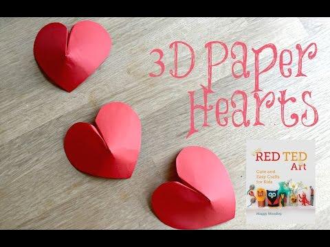 37+ Diy Paper Heart Dangler – 3D Papercrafts Image