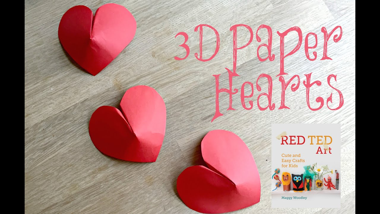 Paper Crafts Diy 3d Paper Hearts How To Youtube