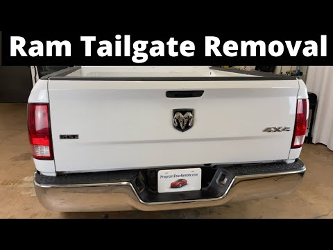 How To Remove A 2009 – 2021 Dodge Ram Tailgate – Take Off, Replace, Replacement Video Tutorial