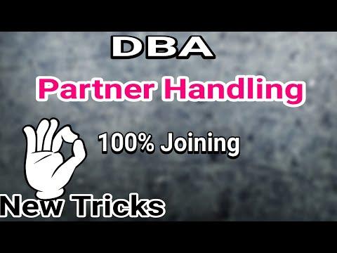 DBA: How To Partner Handling In Network Marketing!