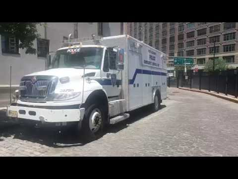 New York, New Jersey Port Authority Police Emergency Service Unit Parked In Manhattan, New York