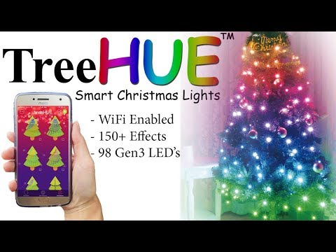 TreeHUE   Smart Christmas Lights with 150+ Effects   App Controlled Christmas Lights
