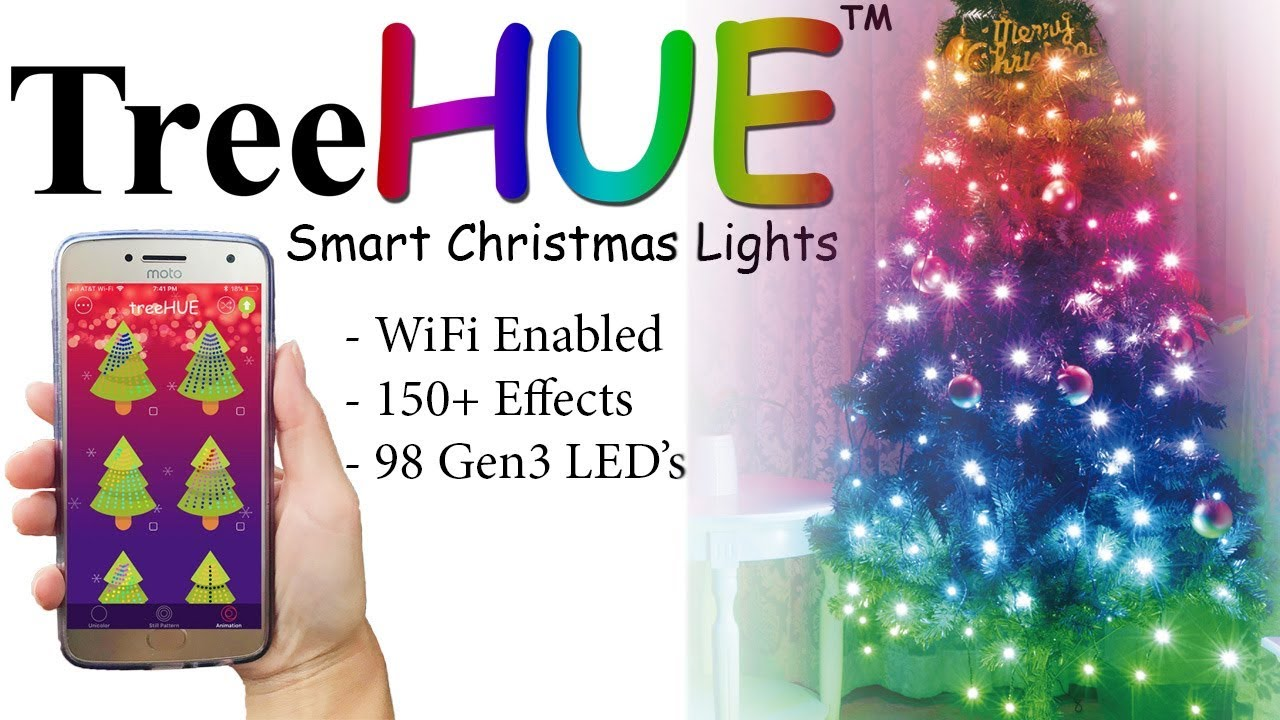 treehue smart christmas lights with 150 effects app controlled christmas lights