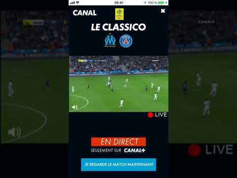Rich Media Live Game Canal + & The Classico OM-PSG Game