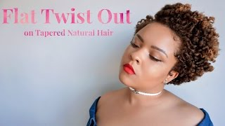 defined flat twist out on tapered blown out natural hair how to