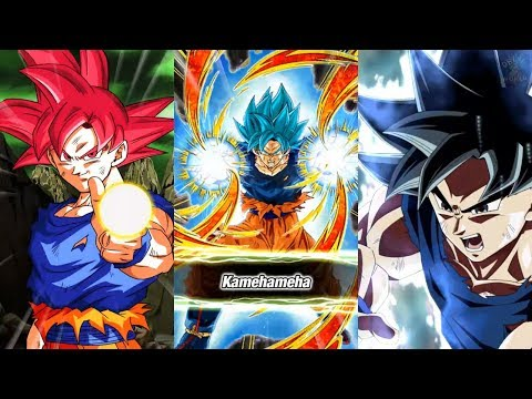 GLOBAL! NEW SUPER SAIYAN GOD, SUPER SAIYAN BLUE, LR ULTRA INSTINCT GOKU SUPER ATTACKS!