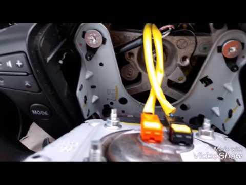 Как снять руль Toyota Avensis 2008