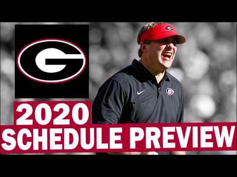 Georgia Bulldogs 2020 College Football Schedule Preview