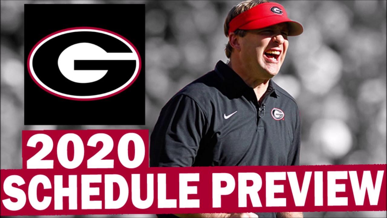 georgia bulldogs schedule 2020