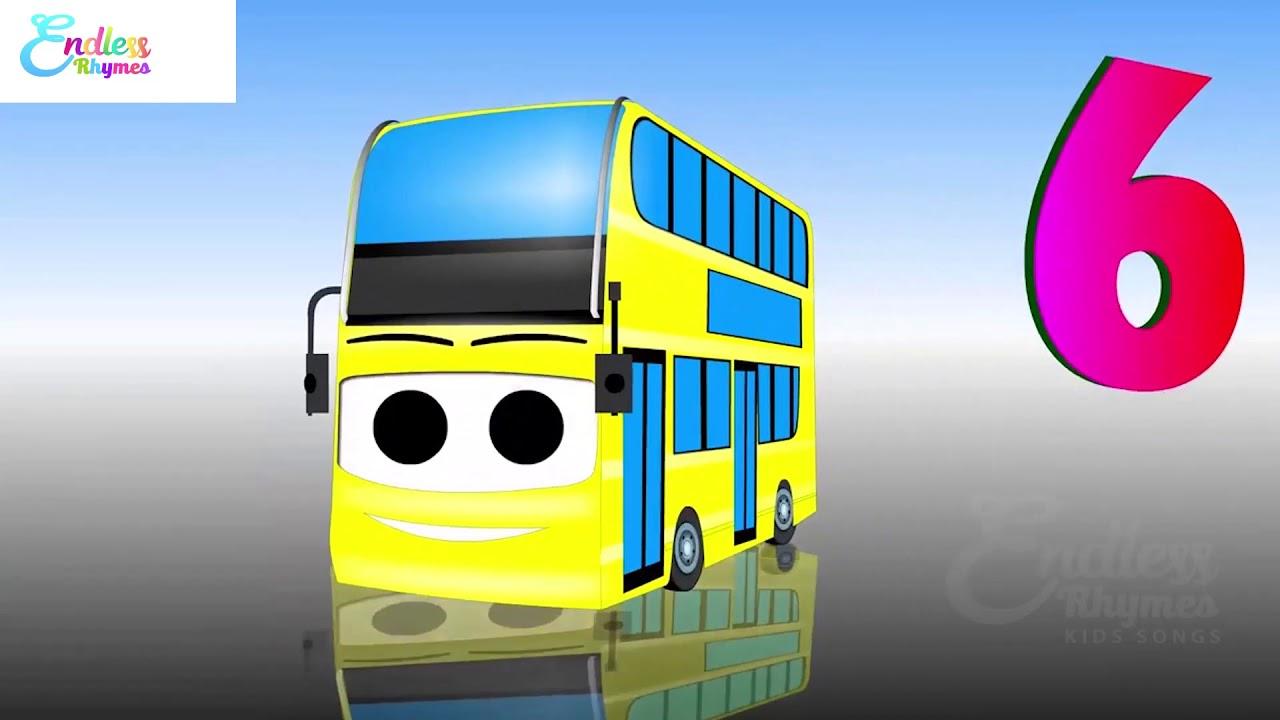 Ten Little Busses Songs and Lyrics For Children   Bus Songs For Kids   Endless Rhymes For Kids