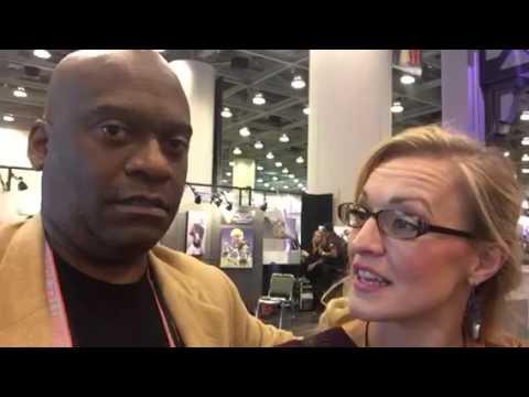 Julie Buehler Of KMIR NBC TV At Super Bowl Media Center #SB50