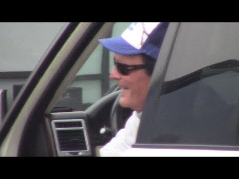 Movie Star Michael Madsen Hanging Out In Malibu