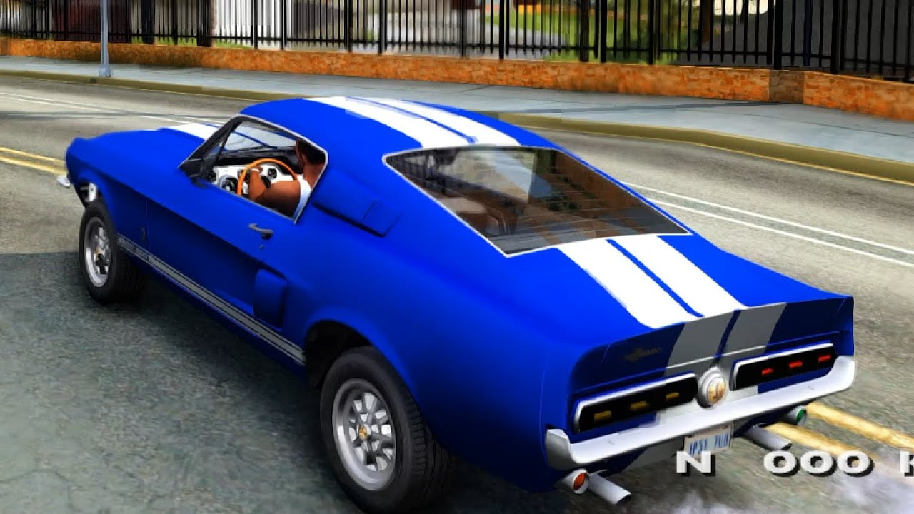 Ford mustang shelby gt500 67 gta san andreas