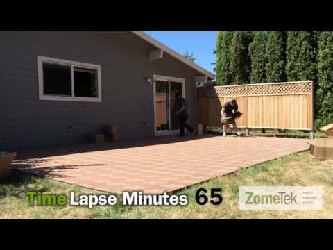 ZomeTek Deck and Patio Tiles Easy DIY Installation