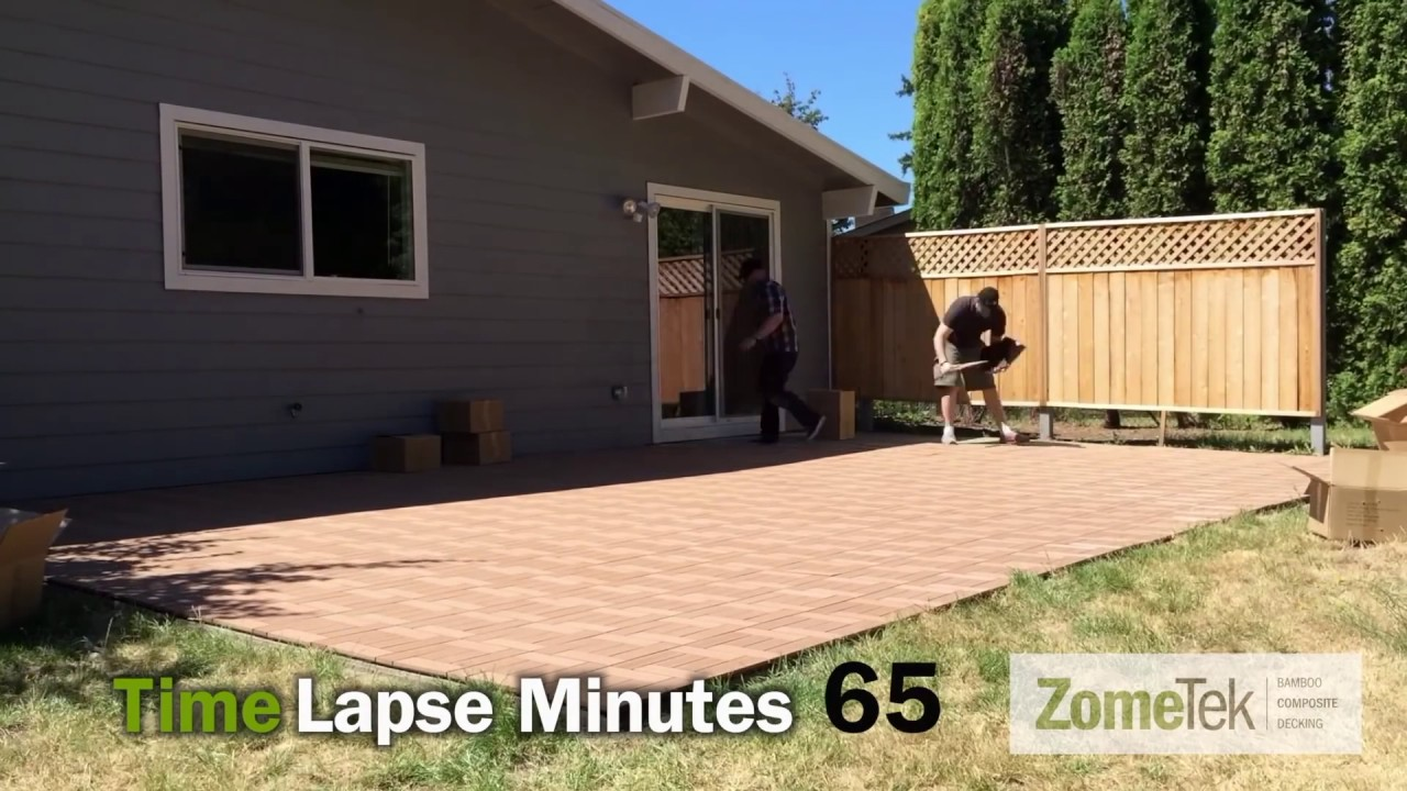 ZomeTek Deck and Patio Tiles Easy DIY Installation - YouTube