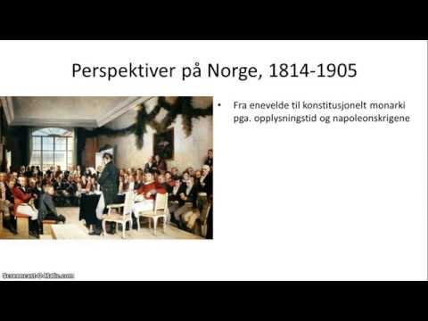 Norge, 1814-1905 - 1/5 - Oversikt