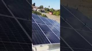 Automatic system for cleaning and washing solar panel ניקוי ושטיפה פאנלים סולארים