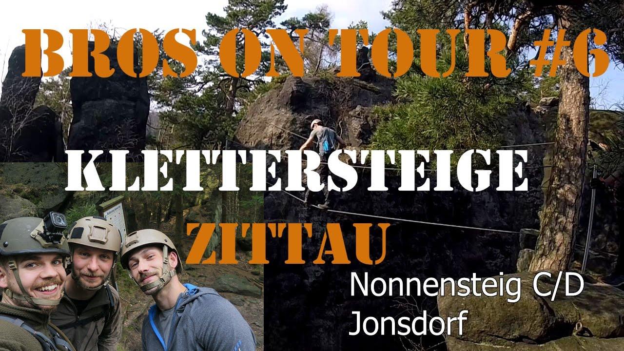 Klettersteig Jonsdorf : Bot alpiner grat nonnensteig zittauer klettersteige youtube