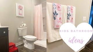 Simple Kids Bathroom Ideas + Decor