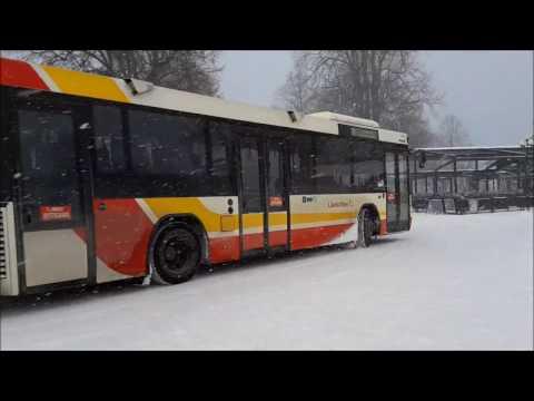 Snöoväder i Jönköping City + Keolis 6046