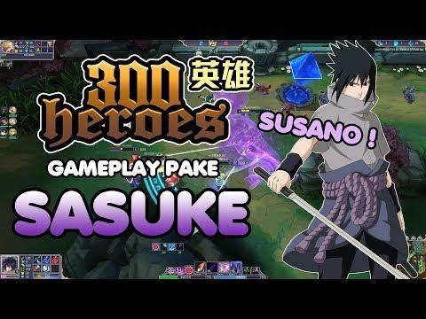 300 Heroes MOBA Anime ! Gameplay Pake Sasuke ! Susano Amaterasu !