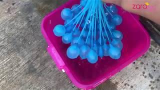 Seru banget main Bunch O Balloons | Mengisi 30 Balon dengan Air kurang dari 1 Menit | Zara Cute