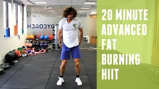20 Minute Advanced Fat Burning HIIT Workout | The Body Coach