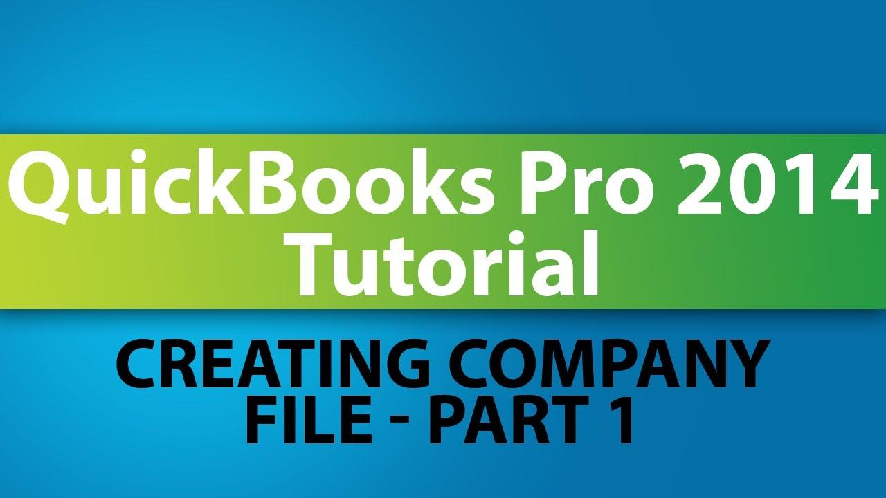 QuickBooks Pro 2014 Tutorial: How to Create Your Company ...  QuickBooks Pro ...