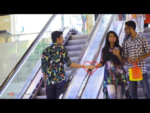 Touching Strangers Hands On The Escalator | Prank In Banglad
