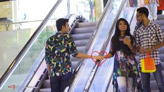 Touching Strangers Hands On The Escalator | Prank In Bangladesh 2017|