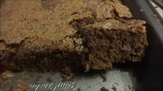 Making Home Made Deep Dish Brownies For Christmas Using Kitchen Aid Mixer