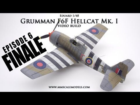 1:48 F6F-3 (Mk.I) Hellcat scale model step by step build - Ep.6 - Finale