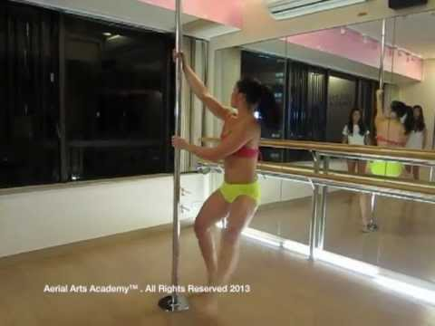 Pole dance at aerial arts academy youtube for Porte arts and dance studio