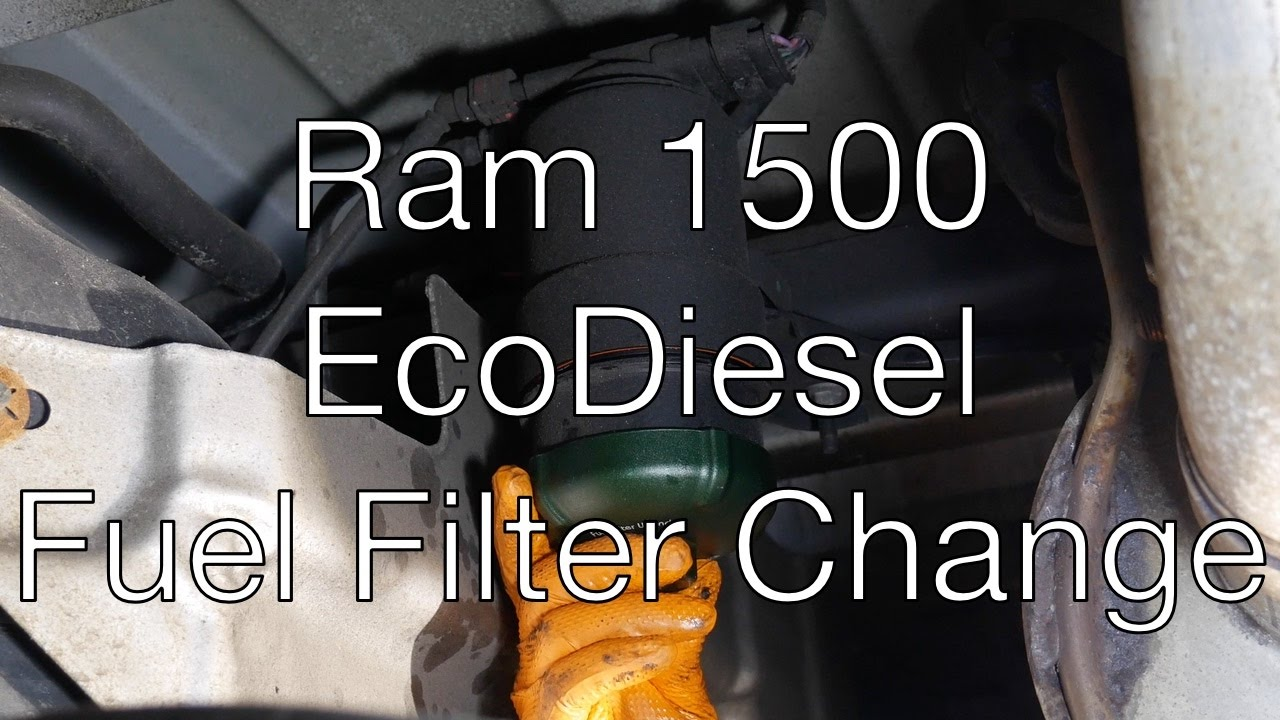 hight resolution of ram 1500 ecodiesel fuel filter change youtubedodge ram 150 fuel filter 14