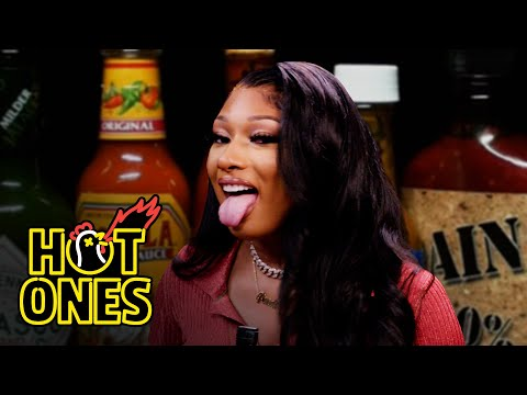 Megan Thee Stallion Turns Into Hot Girl Meg While Eating Spicy Wings | Hot Ones
