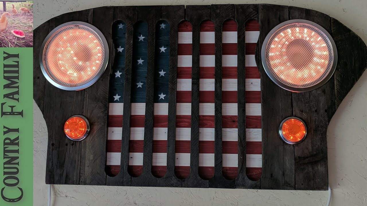 Jeep Grill Wooden Wall Decor