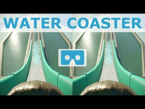 Wild Water Roller Coaster POV SBS 3D VR video for Google Cardboard not 360