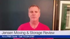Jensen Moving & Storage - 5 Star Review - Jensen Beach FL